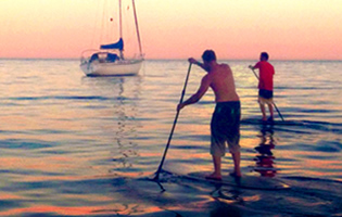 Stand up Paddle Coucher de Soleil Saint Raphaël